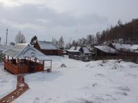 Russland, Baikalsee, Mittagsstop an der alten Baikaleisenbahn