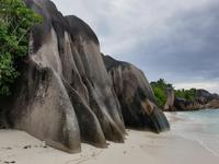 Traumstrand Anse Source d'Argent in La Digue, Seychellen (2)