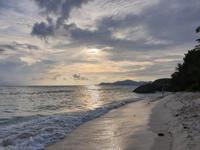 Sonnenuntergang in La Digue, Seychellen (1)