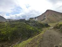 Wanderweg im Hochland Landmannalaugar - Roter Berg