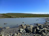 Unser Rafting-Fluss Hvita in Süd-Island