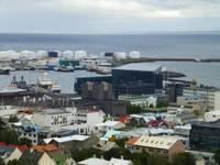 Blick von der Hallgrimskirche auf Reykjavik