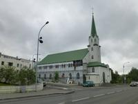 Kirche am Stadtsee Tjörnin in Reykjavik