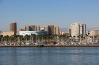 Blick von Queen Mary auf Long Beach - Los Angeles