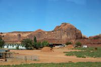 Lehmhäuser der Navajo-Indianer am Monument Valley