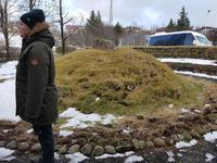 Island, Borganes, Grabhügel zur Egils saga