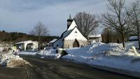 im Ort Waldhäuser liegt so richtig Schnee, der Ort liuegt ca. 1.000 m über N.N.