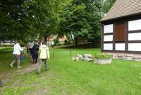 Ankunft an der Dorfkirche von Hohenfinow