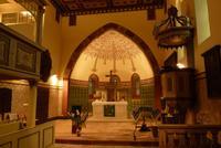 Altar und Kanzel in der Dorfkirche Hohenfinow