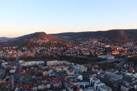 Jena - Blick vom Jentower ins Saaletal