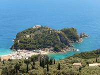Ausblick Bella Vista - Blick auf das Männerkloster Theotokou