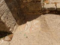 Albanien - Butrint - Basilika aus dem frühen 6 Jh. - kleiner Ausschnitt des Mosaiks