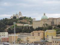 Blick von der Fähre auf Ancona