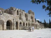 Das Odeion an der Akropolis