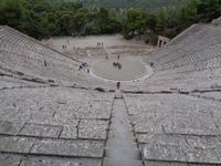 Blick ins Theater von Epidaurus