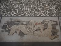 Bodenmosaik im archäologischen Museum in Pella