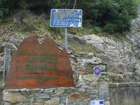 Eingang zum Nationalpark Olymp