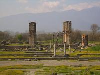 Basilika B hinter dem Forum in Philippi