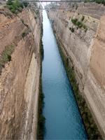 Der Kanal durch den Isthmus von Korinth