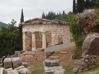 Delphi. Schatzhaus der Athener