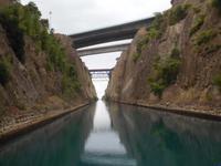 Im Kanal vom Korinth