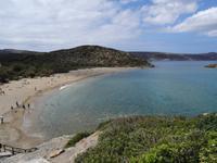 Blick über den Strand von Vai