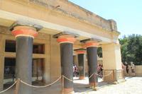 Kreta - Knossos - Minoische Säulen