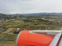 Anflug auf Rhodos
