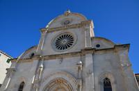 072 Sibenik, Westfassade der Kathedrale des Heiligen Jacob