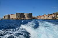 203 Dubrovnik, Ausfahrt aus dem Altstadthafen