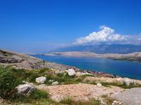 Blick über die Insel Pag