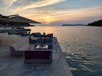169 Dubrovnik, Abendstimmung am Hotel Vis