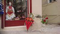 Hübsche Dekoration an einem Laden in Zagreb