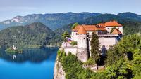 223 Bleder Burg und Bleder See mit Blejski Insel