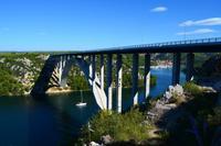 003 Autobahnbrücke über die Krka mit Skradin