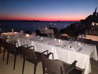 034 Dubrovnik, Abendessen im Hotel mit Sonnenuntergang