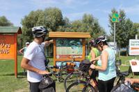Radtour von Tiszafüred nach Poroszlo entlang des Theiss See