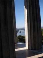 Die Donau von der Walhalla aus gesehen