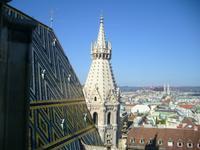 wunderschöne farbige Dachziegel der Domkirche