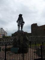Statue von William III. im Hafen von Carrickfergus