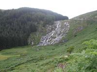 Glenmacnass Wasserfall in den Wicklow Mountains