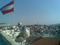 Blick vom Dach des österreichischen Hospizes