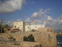 auf der Stadtmauer von Akko