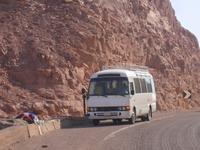 Sinai - ... unser ägyptischer Reisebus ...