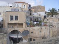 Ausblick von der Dachterrasse des österreichischen Hospizes auf die Altstadt Jerusalems