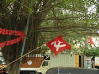 Hammer und Sichel in Kerala