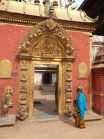Goldenes Tor am Palast von Bhaktapur