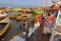 Die Ghats - die Badetreppen am Ganges