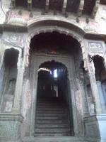 Eingang zu einem Haveli in Nawalgarh