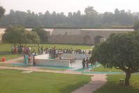 Rajghat, Ghandi-Gedenkstätte